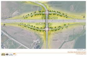 Wydot Map North Sheridan Interchange Project U2013 City Of Sheridan Wyoming