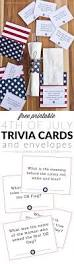 free printable 4th of july trivia cards u0026 utensil holders yellow