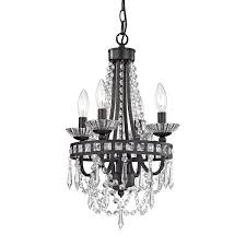 Crystal And Bronze Chandelier Mini Black Crystal Chandelier