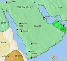 arabia map map of arabia at 750ad timemaps