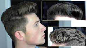 pompadour hairstyle pictures messy pompadour mens hair tutorial hairstyle youtube