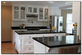 White Kitchen Cabinets With Black Granite Countertops Kitchen With Black Countertops For Design Home And