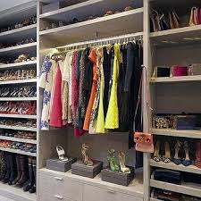 shelves over clothes rails design ideas