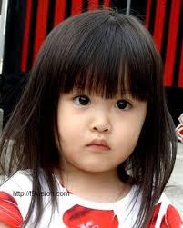 cutes aline hair cutest baby hairstyles long front bangs