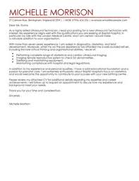 Sonographer Resume Ultrasound Technician Cover Letter Examples For Healthcare