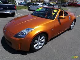 Nissan 350z Orange - 2004 le mans sunset metallic nissan 350z touring roadster