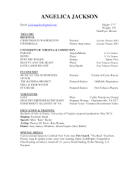 Theatrical Resume Sample by Theatre Resume Template