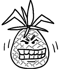 pineapple coloring pages wecoloringpage