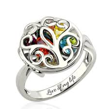 birthstone ring for cage ring family tree birthstone ring for