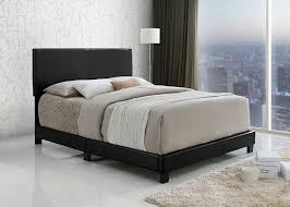 King Size Headboard And Footboard Black Bonded Leather Size Upholstered Headboard