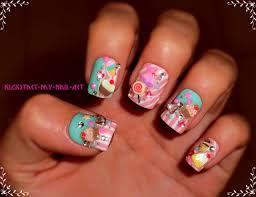 elegant 3d japanese nail art design