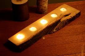rustic wood tea light candle holder 5 tealight holder