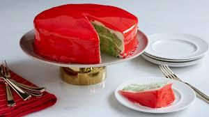 mirror glaze cake holiday mirror glaze poke cake food network