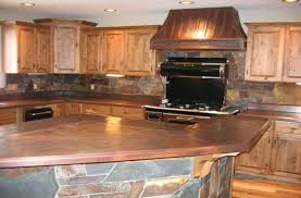 appliances full copper kitchen designs with varnished wooden