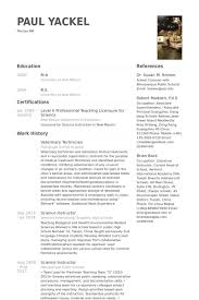 Nail Tech Resume Sample Veterinary Resume Samples Visualcv Resume Samples Database