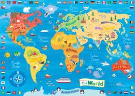 weltkarte für kinderzimmer happy spaces kunstdruck auf leinwand für kinder motiv meine