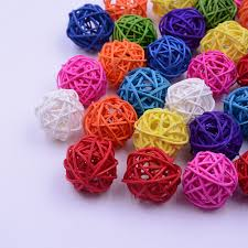 online shop 10pcs lot artificial 3cm straw ball for birthday party