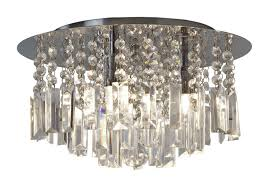 with crystal droplets 33w g9 ip44 double insulated bathroom flush