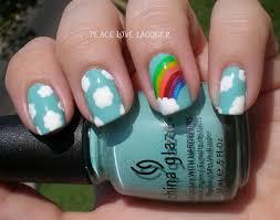 peace love lacquer nail art tutorial rainbow nails