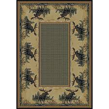 Moose Area Rugs Hautman Brothers Rugs Hautman Northwood Moose Beige Blue Area Rug