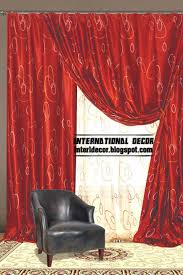 interior design 2014 red curtains and window treatments in the