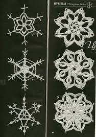 9 best crochet and knitted snowflakes patterns images on