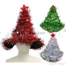 christmas tree hat tinsel christmas tree hat headband christmas party