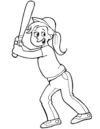 baseball coloring pictures dressed in a baseball cap and
