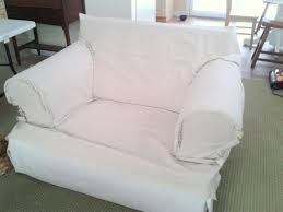 How To Make A Slipcover For A Sleeper Sofa Slipcover Made From Dropcloth Haliblurtin