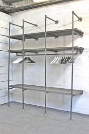 Open Clothes Storage System Diy Best 25 Industrial Clothes Racks Ideas On Pinterest Clothes