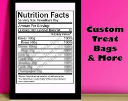 blank nutrition facts template nutrition facts etsy