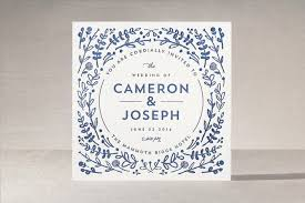 letterpress invitations floral frame letterpress wedding invitations by lori wemple minted