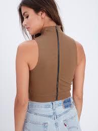 shirts and blouses lori crop top taupe
