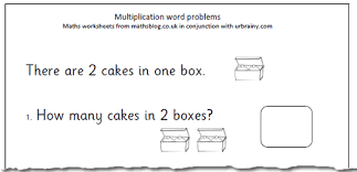 maths worksheet multiplication word problems for year 2 maths blog