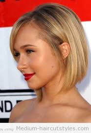 hairstyles short on an angle towards face and back medium to short haircuts for round faces this is a possibility
