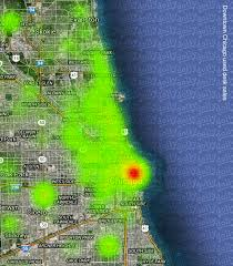 Map Of Hyde Park Chicago by Heat Maps Of Used Furniture Sales In Chicago