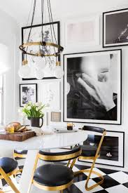 368 best images about kitchens dining rooms on pinterest the jayson home alvar mug anchors today s newspaper in brady tolbert s outstanding rental kitchen reno reveal black white brass and wood do play well