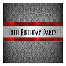 18th birthday invitations u0026 announcements zazzle co uk