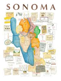 Map Of Sonoma County Wine Maps Com