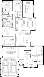 foundation floor plan home architecture cable beach single storey foundation floor plan