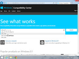 which versions of microsoft office are compatible with windows 8