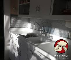 White Kitchen Faucets Charming Tin Backsplash Qith White Kitchen Cabinets And White