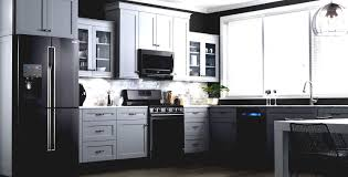 kitchen ideas with black appliances kitchen design white cabinets black appliances grey and white