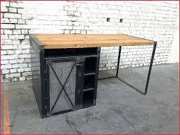 bureau industriel bois et metal bureau metal bois bureau bureau metal bureau bureau metal bois