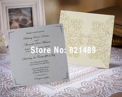 Customized Wedding Invitations Gold And Gray Customized Wedding Invitation Light Gold Embossed