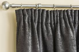 Heavy Grey Curtains Stylish Grey Chenille Heavy Jacquad Pencil Pleat Top Thermal