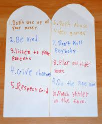 the ten commandments according to my 11 year old nephew imgur