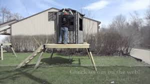 Ground Blind Reviews Lock N Load Pentagon 5 Sided Blind Youtube