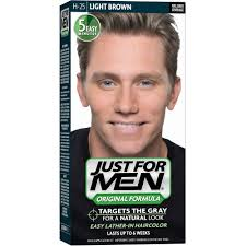 Light Brown Temporary Hair Color Spray Just For Men Original Formula Easy Lather In Haircolor H 25 Light