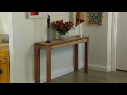 build a console table how to build a console table youtube